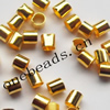 Copper crimp tube beads, seamless,Lead-free&Nickel-free,2x2mm. Sold by Bag