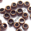 Copper/Brass Crimp Beads, Lead-free&Nickel-free 3mm in diameter, Sold by bag
