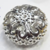 Iron Hollow Beads, Lead-free&Nickel-free Coin 13x23mm, Sold by Bag