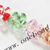 Luminous Lampwork Beads, Flower 15x9mm, Sold by PC