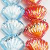 Luminous Lampwork Beads, Fan 26x10mm, Sold by PC