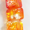 Luminous Lampwork Beads, Cube 10mm, Sold by PC