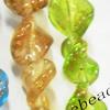 Luminous Lampwork Beads, Twist 24mm, Sold by PC