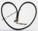 Necklace, rubber (synthetic) 2.5mm round Sold per pkg 17-inch Strand