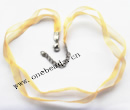 Necklace, Organza Ribbon Transparent 8mm with Iron Clasp  Sold per 17-inch Strand