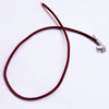 Necklace, velveteen with rubber cord 2mm wide Sold per 17-inch Strand