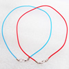 Necklace, rubber (synthetic) Matte 2mm round Sold per 17-inch Strand