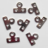 Spacer bars, Iron Jewelry Findings, 3-hole, 7x9mm Hole:1mm 2.2mm, Sold per pkg of 10000