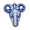 Washed Acrylic Beads, Animal Head 29x30x10mm, Sold by Bag