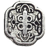 Tibetan Lead-Free Zinc Alloy Jewelry Findings 13x13mm hole=0.5mm Sold by Bag