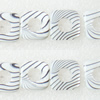 Gleamy Paint shell beads, Hollow Square 19x4mm Hole:1mm, Sold by Group
