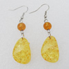 Imitate Amber Earring, 17x20x7mm Length 61mm, Sold by Bag