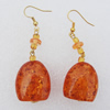 Imitate Amber Earring, 25x23x13mm Length 65mm, Sold by Bag
