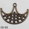 Connector, Lead-free Zinc Alloy Jewelry Findings, 35x26mm Hole=2mm, Sold by Bag