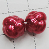 Imitation Pearl Acrylic beads,jewelry finding beads, 11x11mm Hole:2mm, Sold by Bag