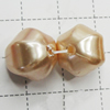 Imitation Pearl Acrylic beads,jewelry finding beads, 14x14mm Hole:1.5mm, Sold by Bag