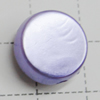 Imitation Pearl Acrylic beads,jewelry finding beads, Flat Round 14mm Hole:2mm, Sold by Bag