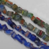 Millefiori Glass Gravely  Beads Mix color, 5x5mm Sold per 31-Inch Strand