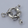 Brass Spring Ring Clasp,17x13mm Hole:3mm Sold by Bag