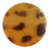 Imitate Animal skins Acrylic Beads, Painted Spray-paint, Flat Round 28mm Hole:1mm, Sold by Bag