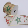 Christmas Ribbon Jewelry Printing Satin Ribbon, 60mm Length:10 yards, Sold by PC