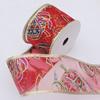 Ribbon Jewelry Printing Satin Ribbon(Christmas), 60mm Length:10 yards, Sold by PC
