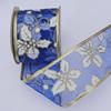 Ribbon Jewelry Printing Satin Ribbon(Christmas), 38mm Length:10 yards, Sold by PC
