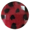 Imitate Animal skins Acrylic Beads, Painted Spray-paint, Faceted Flat Round 28mm Hole:1.5mm, Sold by Bag