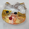 Inner Painted Acrylic Beads, Animal Head 22x19mm Hole:2.5mm, Sold by Bag