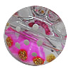 Inner Painted Acrylic Beads, Flat Round 23mm Hole:2mm, Sold by Bag