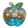 Inner Painted Acrylic Beads, Apple 22mm Hole:2mm, Sold by Bag