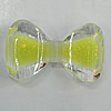 Acrylic Enamal Beads, Bowknot 50x30mm Hole:3mm, Sold by Bag