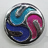 Plating Resin Beads, Flat Round 30mm Hole:2mm, Sold by Bag