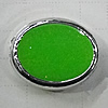 Plating Resin Beads, Flat Oval 16x13mm Hole:2mm, Sold by Bag