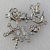 Jewelry findings CCB plastic beads Silver color Mix style Mix size 12x12mm-23x14mm, Sold by Group