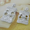 Sterling Silver Couples Pendant/Charm, 35x17.67mm  29x16.36mm Sold by Pair