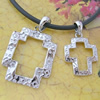 Sterling Silver Couples Pendant/Charm, 31x20mm  23x15mm Sold by Pair