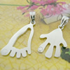 Sterling Silver Couples Pendant/Charm, 33x15mm  28x16mm Sold by Pair