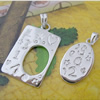 Sterling Silver Couples Pendant/Charm, 32.73x17.80mm  27.20x12.85mm Sold by Pair