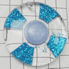 Acrylic Pendant With Colorful Powder, Flat Round 50mm Hole:1.5mm, Sold by Bag