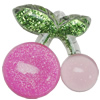 Acrylic Pendant With Colorful Powder, Fruit 50x48mm Hole:2mm, Sold by Bag