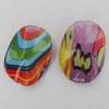 Acrylic Beads, Mix Style & Mix Color 38x28mm, Sold by Bag