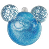 Acrylic Pendant With Colorful Powder, Animal Head 50x42mm Hole:2mm, Sold by Bag