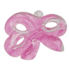 Acrylic Pendant With Colorful Powder, Bowknot 51x36mm Hole:3mm, Sold by Bag