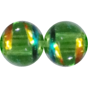 Drawbench Translucent Glass Beads, Round 4mm Hole:1mm, Sold per 32-Inch Strand
