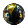 Drawbench Translucent Glass Beads, Round 12mm Hole:2mm, Sold per 32-Inch Strand
