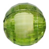 Fantastic Acrylic Beads, Faceted Round 6mm Hole:1.5mm, Sold by Bag