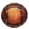 Fantastic Acrylic Beads, Faceted Round 8mm Hole:1.5mm, Sold by Bag