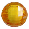 Fantastic Acrylic Beads, Faceted Round 16mm Hole:2mm, Sold by Bag