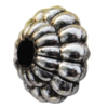 Jewelry findings, CCB plastic Spacer Antique silver, 12x17mm Hole:4mm, Sold by Bag
